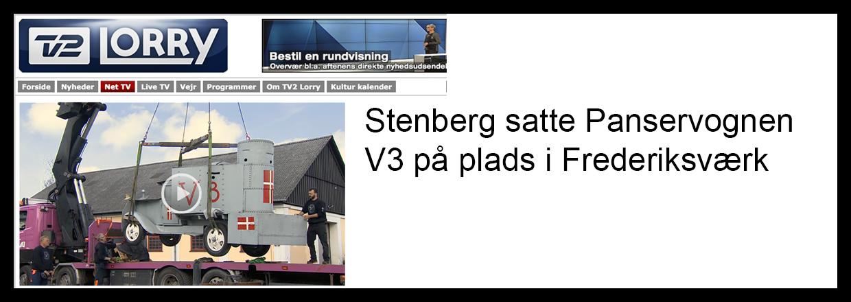Panservognen V3 blev bakset ind på Industrimuseet i Frederiksværk.